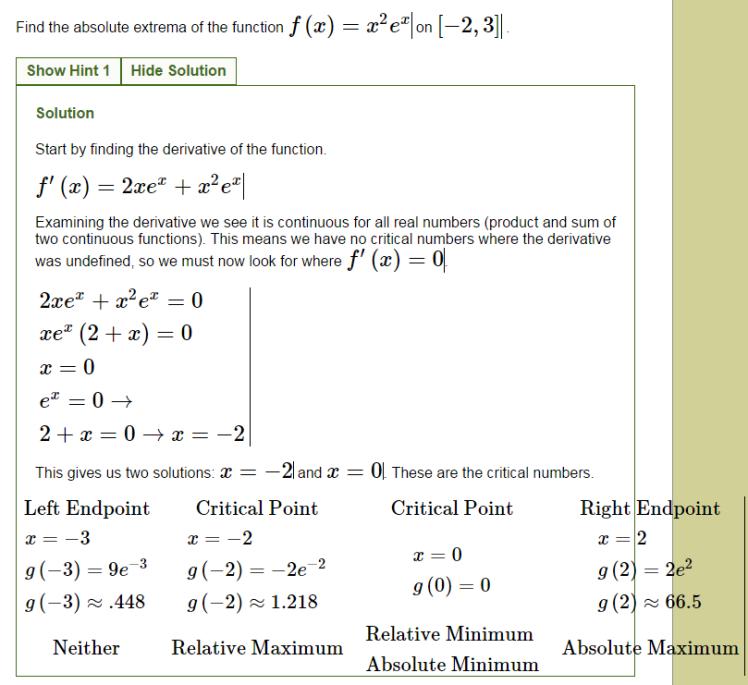 Chapter 41 Maximum And Minimum Values Webassign